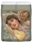 Love's Whispers Duvet Cover by NP Davies
