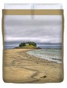 Low Tide In Popham Beach Maine Duvet Cover by Tammy Wetzel