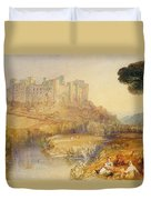 Ludlow Castle  Duvet Cover by Joseph Mallord William Turner