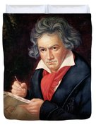 Ludwig Van Beethoven Composing His Missa Solemnis Duvet Cover by Joseph Carl Stieler