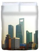 Lujiazui - Pudong Shanghai Duvet Cover by Christine Till