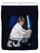 Luke Skywalker Duvet Cover by Tom Carlton