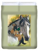 Lusitano Duvet Cover by Barbara Keith