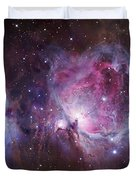 M42, The Orion Nebula Top, And Ngc Duvet Cover by Robert Gendler