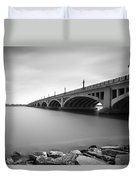 Macarthur Bridge To Belle Isle Detroit Michigan Duvet Cover by Gordon Dean II
