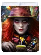 Mad As A Hatter Duvet Cover by Omri Koresh