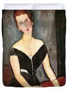 Madame G Van Muyden Duvet Cover by Amedeo Modigliani