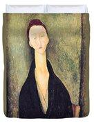 Madame Hanka Zborowska Duvet Cover by Amedeo Modigliani