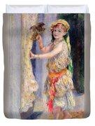 Mademoiselle Fleury In Algerian Costume Duvet Cover by Pierre Auguste Renoir