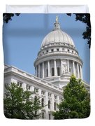 Madison Wi State Capitol Duvet Cover by Anita Burgermeister
