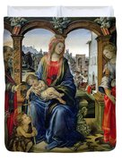 Madonna and Child Duvet Cover by Filippino Lippi