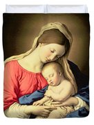 Madonna And Child Duvet Cover by Il Sassoferrato