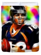 Magical Peyton Manning Borncos Duvet Cover by Paul Van Scott