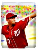 Magical Stephen Strasburg Duvet Cover by Paul Van Scott