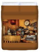 Mailman - In The Office Duvet Cover by Mike Savad