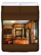 Mailman - The Post Office Duvet Cover by Mike Savad