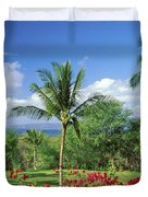 Makena Beach Golf Course Duvet Cover by Peter French - Printscapes