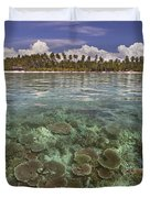 Malaysia, Mabul Island Duvet Cover by Dave Fleetham - Printscapes