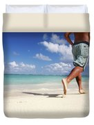 Male Beach Runner Duvet Cover by Brandon Tabiolo - Printscapes