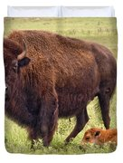 Mama Watching Over Baby Duvet Cover by Tamyra Ayles