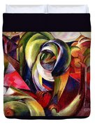 Mandrill Duvet Cover by Franz Marc