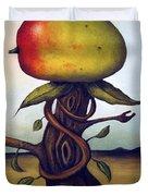 Mango Tree AKA Senor Mango Duvet Cover by Leah Saulnier The Painting Maniac