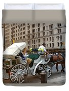 Manhattan Buggy Ride Duvet Cover by Madeline Ellis