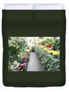 Manito Park Conservatory Duvet Cover by Carol Groenen