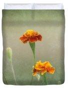 Marigold Fancy Duvet Cover by Kim Hojnacki