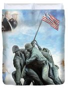 Marine Corps Art Academy Commemoration Oil Painting By Todd Krasovetz Duvet Cover by Todd Krasovetz