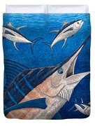 Marlin And Ahi Duvet Cover by Carol Lynne