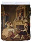 Marriage A La Mode II The Tete A Tete Duvet Cover by William Hogarth