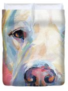 Martha's Pink Nose Duvet Cover by Kimberly Santini