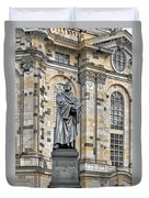 Martin Luther Monument Dresden Duvet Cover by Christine Till