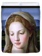 Mary Duvet Cover by Agnolo Bronzino