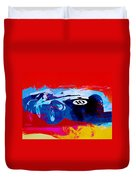 Maserati On The Race Track 1 Duvet Cover by Naxart Studio