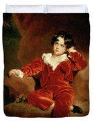 Master Charles William Lambton Duvet Cover by Sir Thomas Lawrence