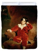 Master Charles William Lambton Duvet Cover by Sir Thomas Lawrence
