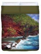 Maui Red Sand Beach Duvet Cover by Inge Johnsson