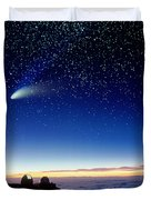 Mauna Kea Telescopes Duvet Cover by D Nunuk and Photo Researchers