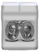 Mckinley And Roosevelt Election Poster Duvet Cover by War Is Hell Store
