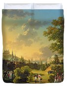 Meeting Between Napoleon I And Ferdinand IIi Duvet Cover by Hippolyte Lecomte
