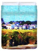Mendocino Bluffs Duvet Cover by Wingsdomain Art and Photography