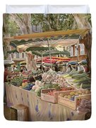 mercato provenzale Duvet Cover by Guido Borelli