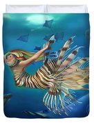 Mermalien Odyssey Duvet Cover by Patrick Anthony Pierson
