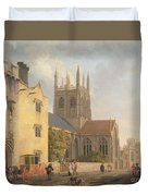 Merton College - Oxford Duvet Cover by Michael Rooker