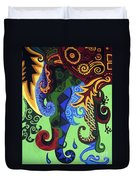 Metaphysical Fauna Duvet Cover by Genevieve Esson