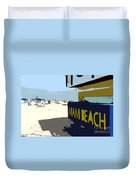 Miami Beach Work Number 1 Duvet Cover by David Lee Thompson