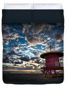 Miami Dawn Duvet Cover by Dave Bowman