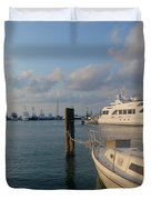 Miami Harbor Duvet Cover by JAMART Photography
